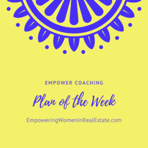 Yellow Plan of the Week Graphic